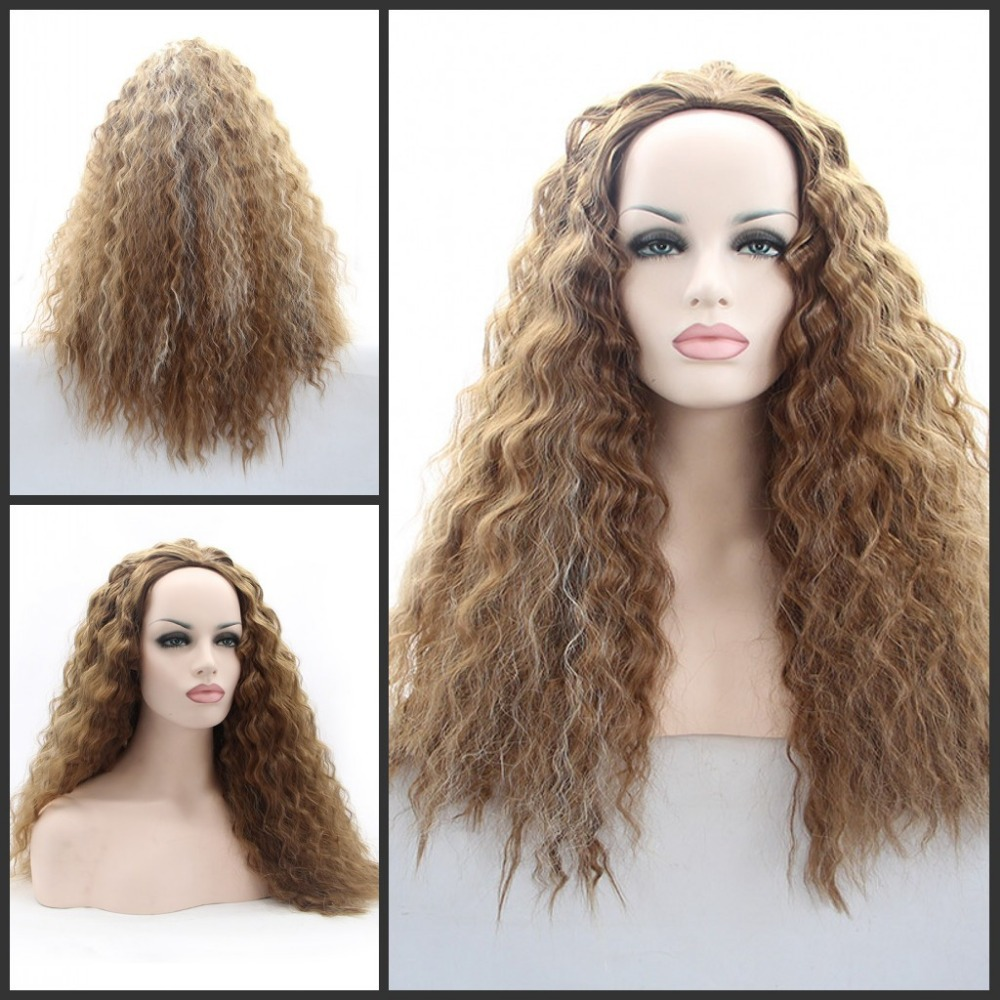 Pheonix Burgundy Synthetic Lace Front Wig Glueless curly synthetic hair braiding Ombre Two Tone Heat Resistant Hair Wigs - Qingdao noble queen factory store