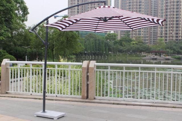 2.7m 40kg banana umbrella outdoor umbrellas base patio booth garden<br><br>Aliexpress