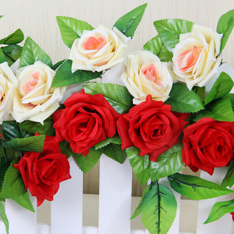 2.4Meters Flores Wreath Decor Silk Flowers Artificial Flowers For Wedding Decorations Artificial Plants For Party Decoration HOT(China (Mainland))
