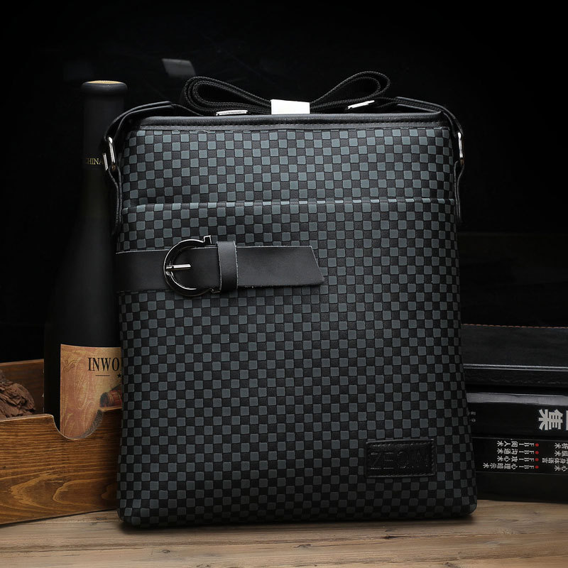Hot 2015 New design brand fashion small black leather men messenger bags casual brown shoulder bag bolsa masculina sacoche homme(China (Mainland))