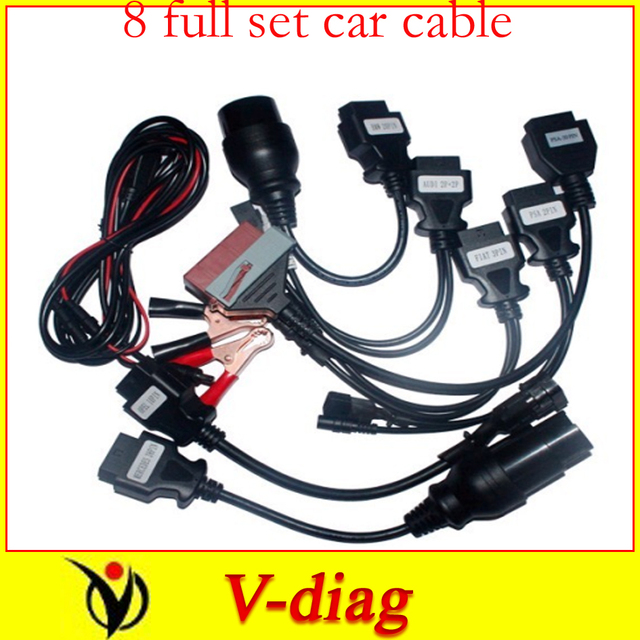 free shipping 8 full set car cables of car for tcs cdp pro plus multidaig wow snooper car cable