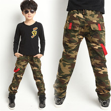 Boy camouflage boy pants Spring  new big virgin cotton trousers Korean version of the best-selling children's new clothing(China (Mainland))