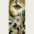 100 Handmade Abstract Grey And Animals owl Oil Painting On Canvas owl Portrait Head Oil Painting
