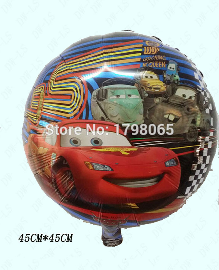 2015 new 18 inch 50pcs/lot round MC cars foil ballon for baby birthday party decoration helium balloon air balls free shipping
