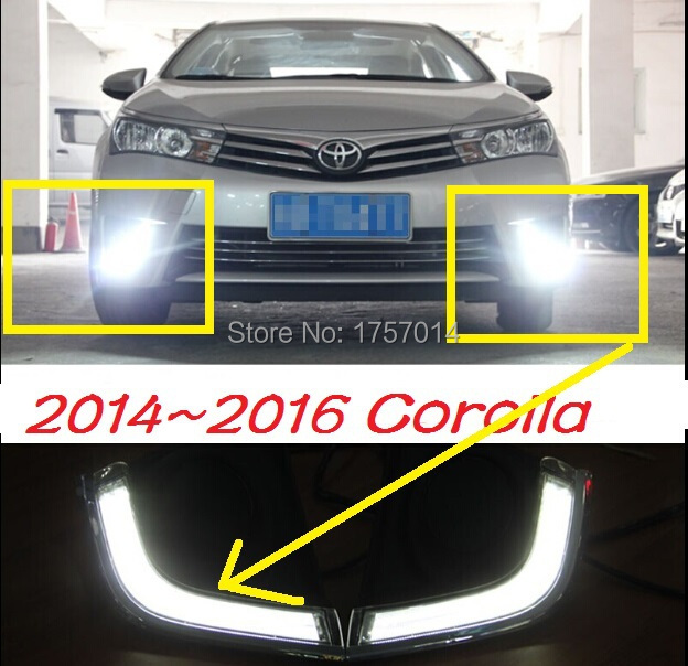 2014 TOYOTA  corolla ABS LED daytime running light,2pcs/set+wire of harness,10W 12V,6500K;super good quality Free ship!<br><br>Aliexpress