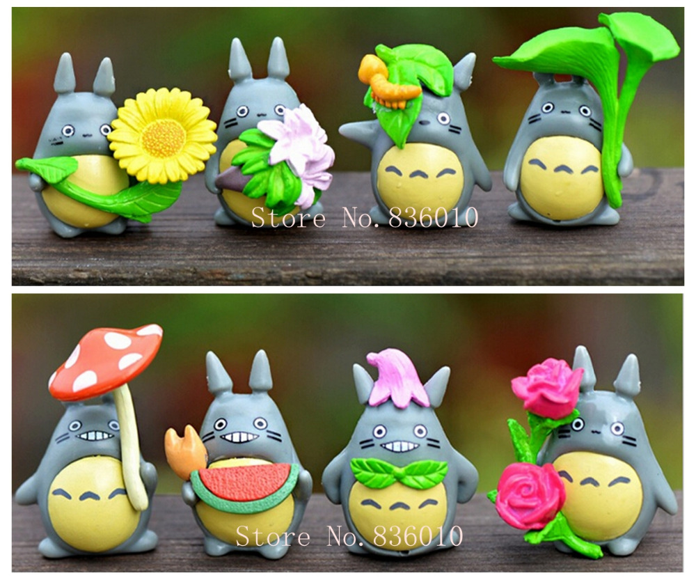 Hot 8pcs/set japanese movie cute totoro hayao miyazaki model doll unique toys for children pvc classic toys education learning(China (Mainland))
