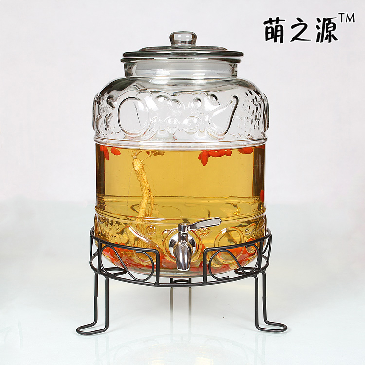 Meng source of lead-free glass bubble bottle wine bottle with a metal leading fruit wine bottle wine bottles anther shipping(China (Mainland))