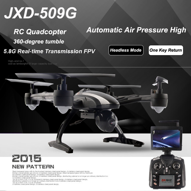 Free ship JXD 509VWG 5.8G FPV Wifi Camera RC Quadcopter with Camera RTF 2.4GHz Headless Mode One Key Return Real Time Video FHD<br><br>Aliexpress