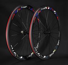 700C 23mm depth 50mm carbon road bike wheels clincher bicycle wheelset black cycling wheels with Novatec 271 hub free shipping(China (Mainland))