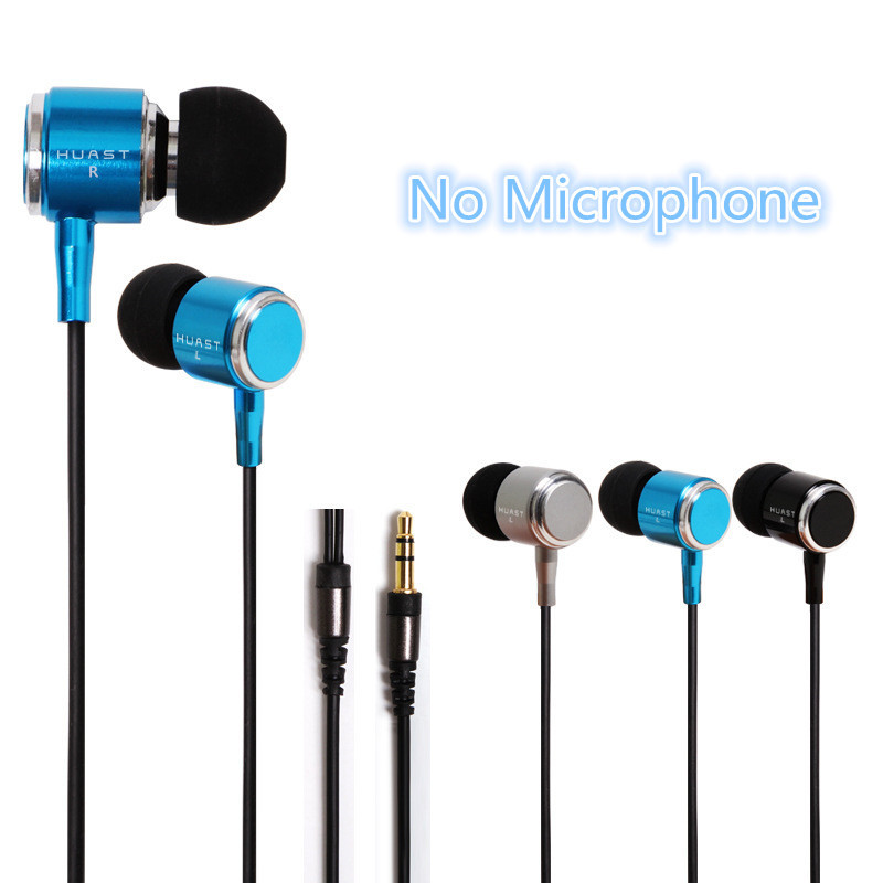 Huast In ear Headset 3 colors Fashion Metal Noise Canceling Hifi Earbuds Sport Ear phones for iPhone Smart Phone MP3 Player(China (Mainland))