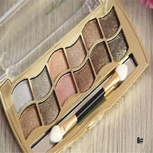 12color diamond shining bright colorful makeup glitter eye shadow palette professional makeup naked eyeshadow palette with brush(China (Mainland))