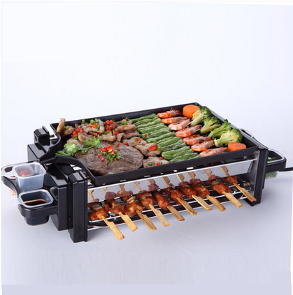 Popular 1pcs/lot Wholesale grills Electric Smokeless Barbecue Oven Protable BBQ Grill Household electric free shipping(China (Mainland))