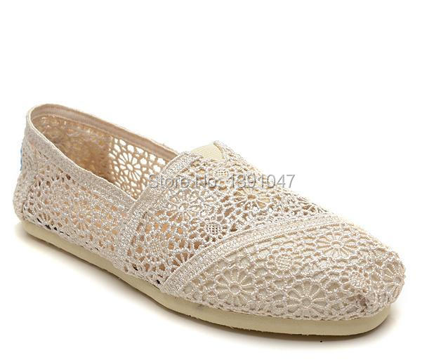 Free Shipping Women Women's Ladies Classic Canvas Casual Plain Shoes Flats Sunflower CROCHET TEXTILE FLORAL shoes 1pairs(China (Mainland))
