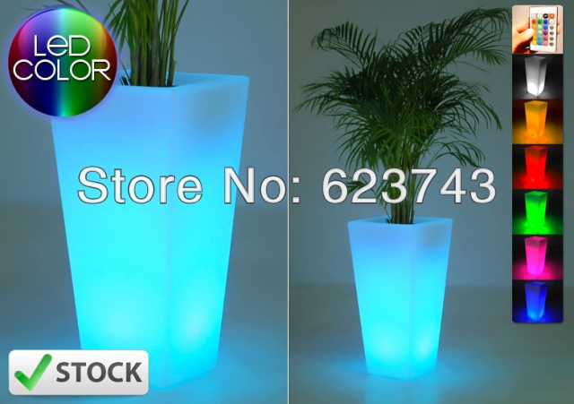 Free SHIPPING Glowing lighting LED flower pot! Remote color changing RGB led flower pot ,led vase,LED beer barrel BY EMS(China (Mainland))