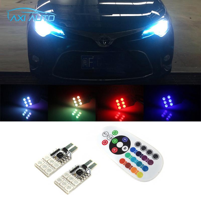 For Toyota Corolla Avensis Yaris Rav4 Auris Hilux Prius Verso Prado SMD 5050 RGB T10 194 168 W5W Car LED Parking Clearance Light(China (Mainland))