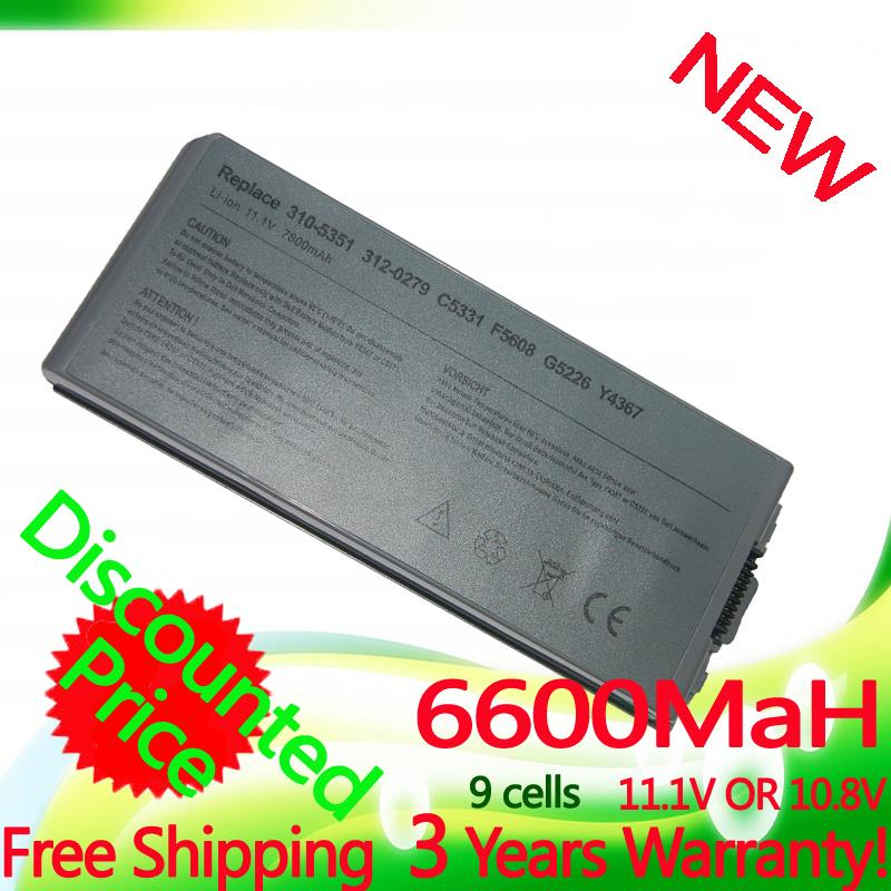 11.1V 6600mAh Laptop Battery For Dell Latitude D810 Precision M70 310-5351 312-0279 C5331 C5340 D5505 D5540 F5608 G5226 Y4367(China (Mainland))