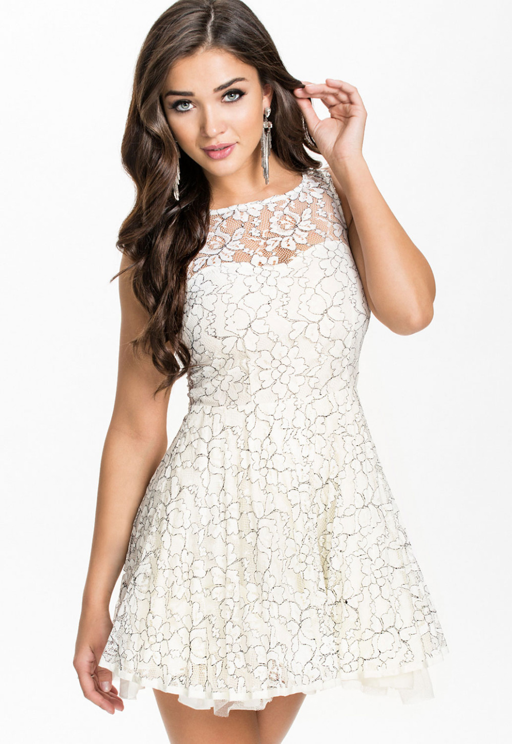 white lace dresses for graduation
