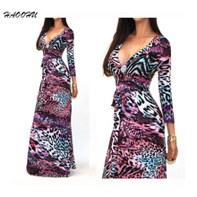 Buy 2015 Autumn Winter New Sexy Women Bohemian dresses Party dresses Sexy V-neck long sleeve Printed Maxi long dresses 928 DX for $12.38 in AliExpress store