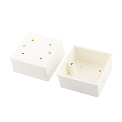 2Pcs 86mm x 86mm x 43mm White PVC Mount Back Box for Wall Socket(China (Mainland))
