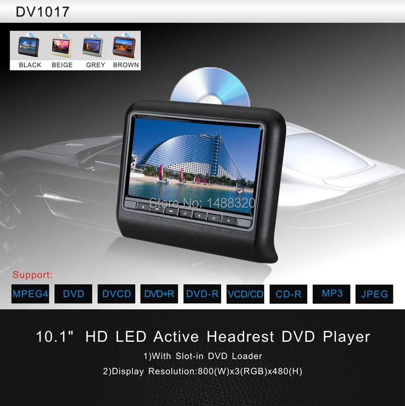 "Quality Black HD 10.1"" TFT LCD Display DVD Automotivo Car DVD Player Car Headrest Monitor with USB SD IR FM Game Joystick(China (Mainland))"