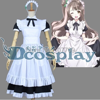 Love Live! School Idol Project Minami Kotori Women Cos Anime Cosplay Costume Lolita Dress Skirt Clothes Maid - Purple wings store