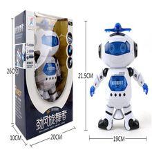 New Transformation Stunt Kidrobot Superhero Dance Electric Robot Action Figures With Light Music Musical kids toys Original box