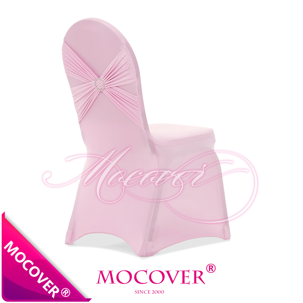 [ MOCOVER ][ SINO-GERMANY CO BRAND ] BABY PINK ANGEL WING 80/ 20 spandex chair covers with luxury diamond buckle included(China (Mainland))