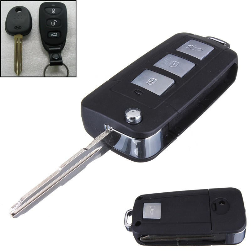 2016 New 3 Buttons + Panic Modified Flip Remote Key Shell for HYUNDAI for Elantra for Sonata for Genesis Folding
