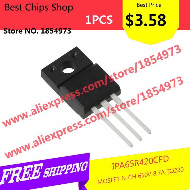 Free Shipping 1PCS=$3.58 Electronic Components Original IPA65R420CFD MOSFET N-CH 650V 8.7A TO220 65R420 IPA65R420(China (Mainland))