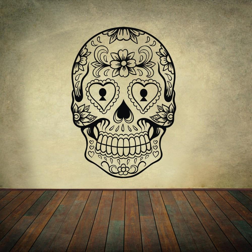 Buy Sugar Skull Mexico Floral Swirl Home