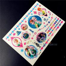 1PC Waterproof Cartoon Flash Tattoo Sticker Kids HCG-129 Children Froze Anna Elsa Temporary Tattoo Paste Body Art Anime Comics
