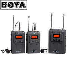 BOYA BY-WM8 UHF Dual Wireless Lavalier Microphone Systerm Lav Interview Mic 2 Transmitters & 1 Receiver for DSLR Video Camera(China (Mainland))