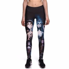Buy NEW 0003 Sexy Girl Halloween Skull Corpse Bride Prints Slim High Waist Workout Fitness Women Leggings Pants Trousers Plus Size for $9.45 in AliExpress store