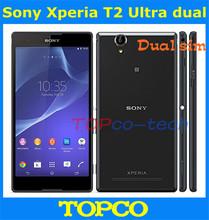 "Sony Xperia T2 Ultra Dual Original Unlocked mobile phone Quad-Core 8GB ROM 6.0"" 13MP WIFI GPS 3G GSM Dropshipping(China (Mainland))"