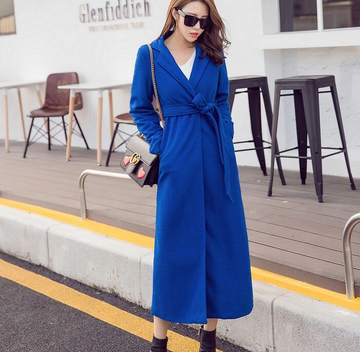 Women Winter Long Wool Coat Split Back Oversize Trench Peacoats Winter New Design Fashion Long Women Wool Coats outerwear