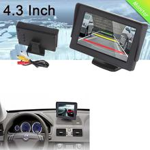 "Car LCD Monitor 4.3"" Foldable Color LCD Monitor Car Reverse Rearview 4.3"" Parking System Backup Camera for Car Rear view Camera(China (Mainland))"
