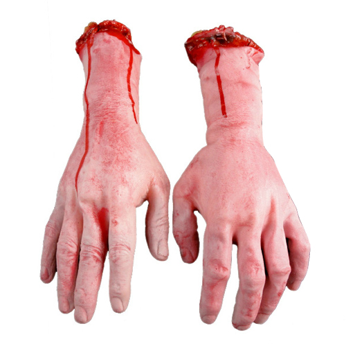 HOT Lifesize Human Arm Hand Bloody Dead Body Parts Haunted House Halloween Prop 91TZ(China (Mainland))