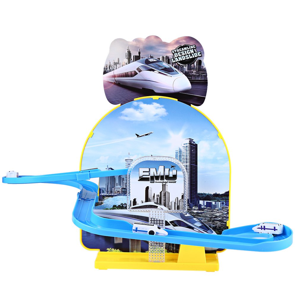 HOT Kids Electric Rail Car Race Set Train Track Assemble Fancy Toy with Light Funny Musicial Railway Train Toys For Children(China (Mainland))
