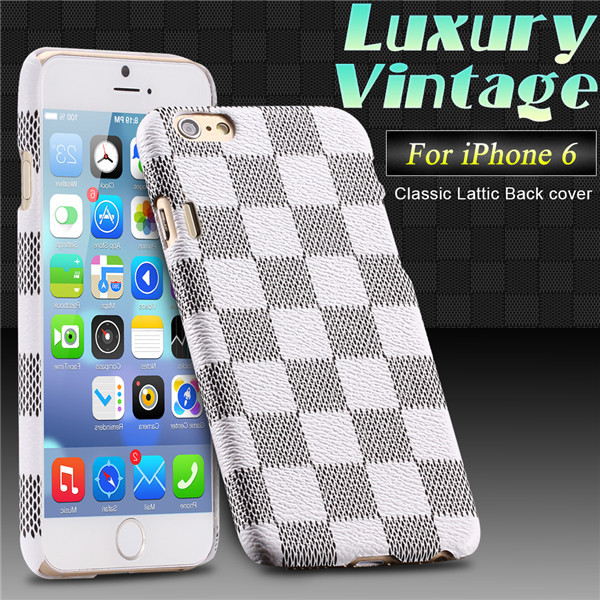 6 4.7 Inch European Style Plaid Leather Case For iphone 6 4.7 Electronic Accessories&Parts Phone Cover For iphone6 Christmas(China (Mainland))