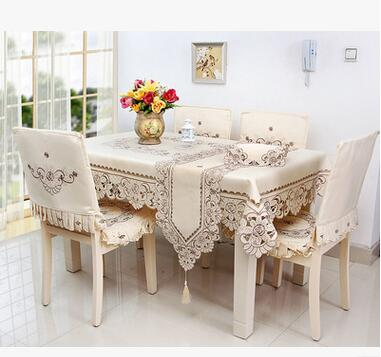 Home hotel dining/wedding embroidered Table Cloth Jacquard Floral Rectangular Tablecloth Table Runner fabric to table covers(China (Mainland))