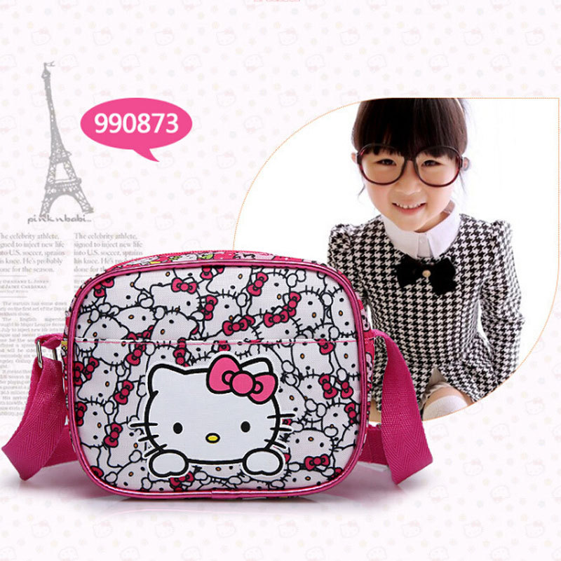 Korean children hello kitty Hello Kitty bag diagonal package student bags girls shoulder messenger bag(China (Mainland))