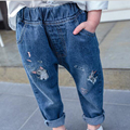 Children Denim Clothing Girls Jeans Cat Embroidered Cowboy Trousers Baby Girl Casual Long Pants Kids Fashion