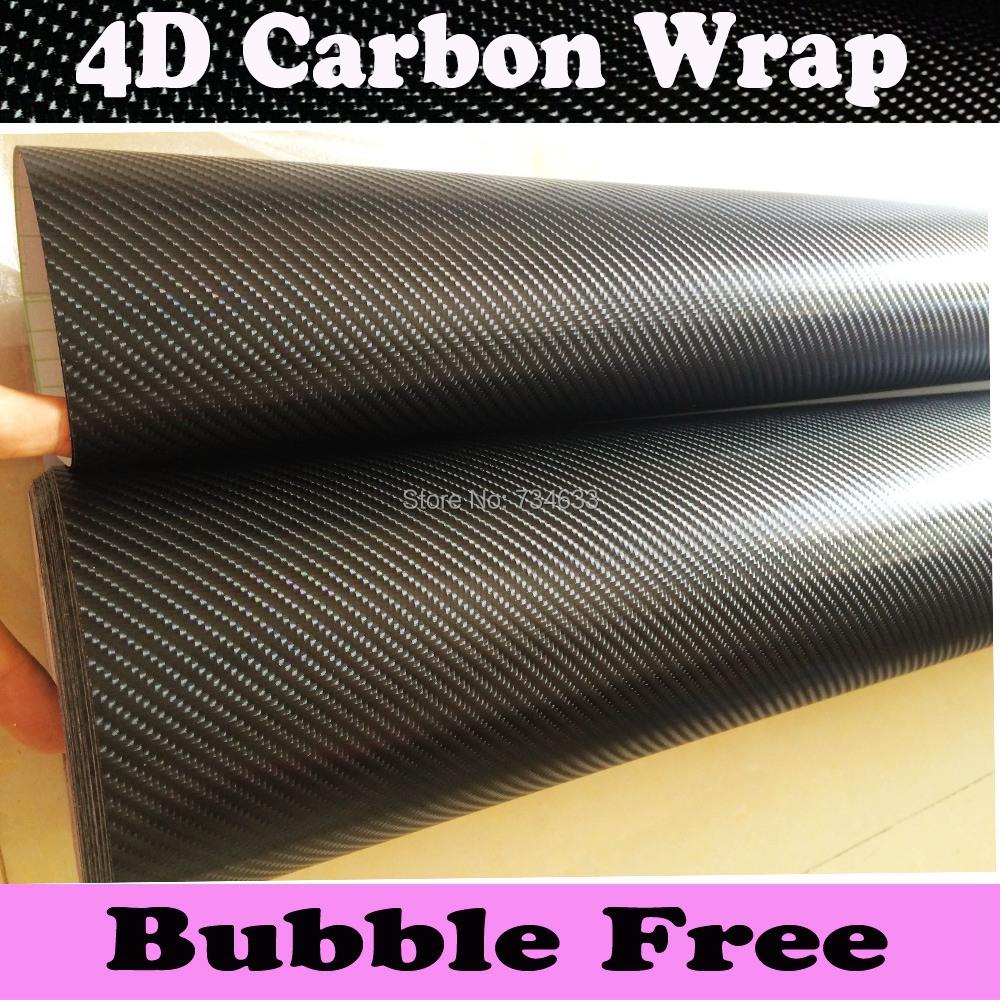 Premium 4D Carbon Fiber Vinyl Wrap With Air-release 4D Glossy Carbon Fibre Wraps Like Real Carbon 1.52x30m/Roll=5x98ft(China (Mainland))