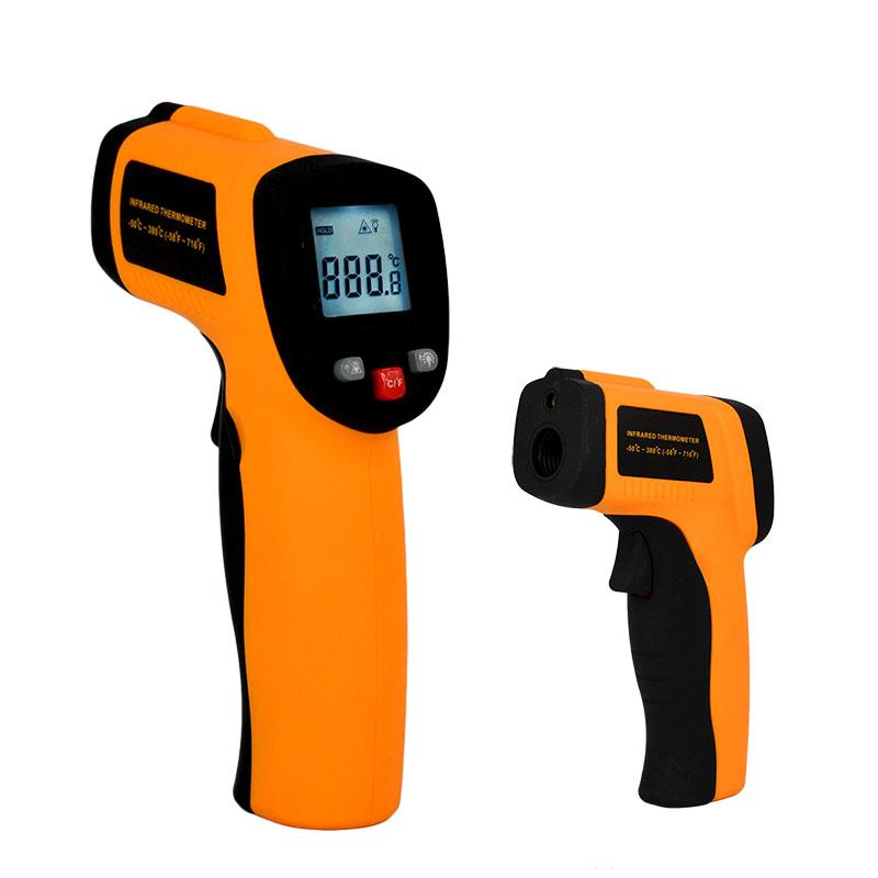2016 New Digital Non-Contact IR Laser Display Digital Infrared Thermometer Temperature Meter Gun Point -50~380 Degree(China (Mainland))