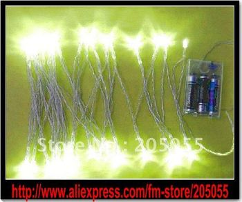NEW 4M 40 LED Battery power operated String Fairy Light Christmas Party Xmas Wedding decoration -Warm white