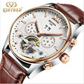 KID brand watches Luxury Automatic Mechanical Men Sub dial function 24 hours Date Display Genuine Leather