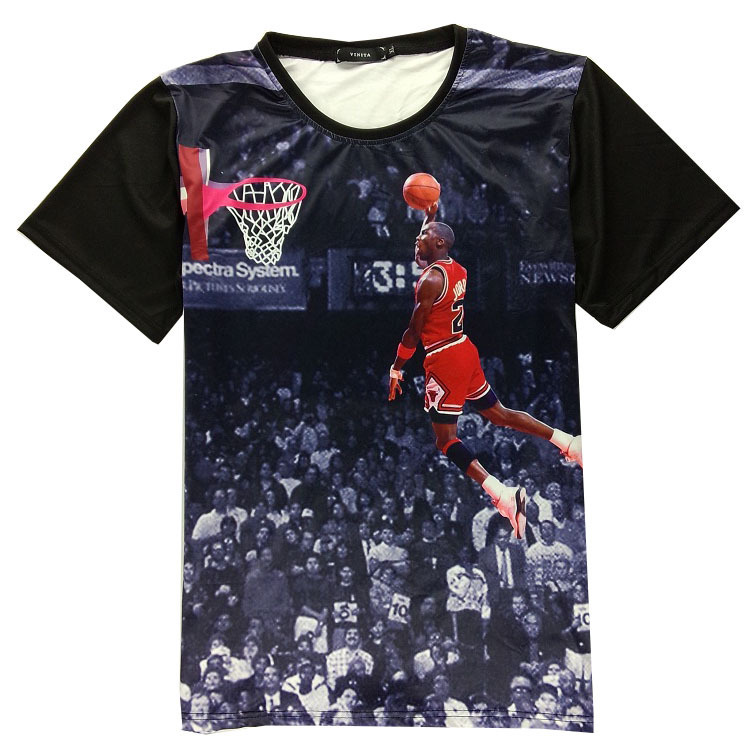Exclusive!basketball star print Jersey For women 3D t shirt men new 2015 summer fashion Casual tops clothes short sleeve Gift(China (Mainland))