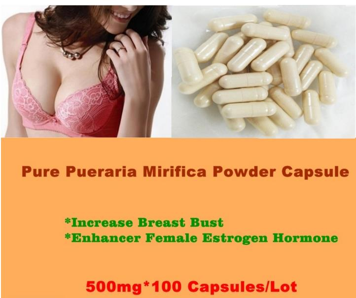 Pure Pueraria Mirifica Powder Breast Bust Enhancer Female Estrogen Hormone 500mg*100 Capsules
