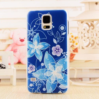 3D Relief Patinted Flower Design Hard Phone Case Back Cover Samsung Galaxy S5 - Digital Fittings E-shop store