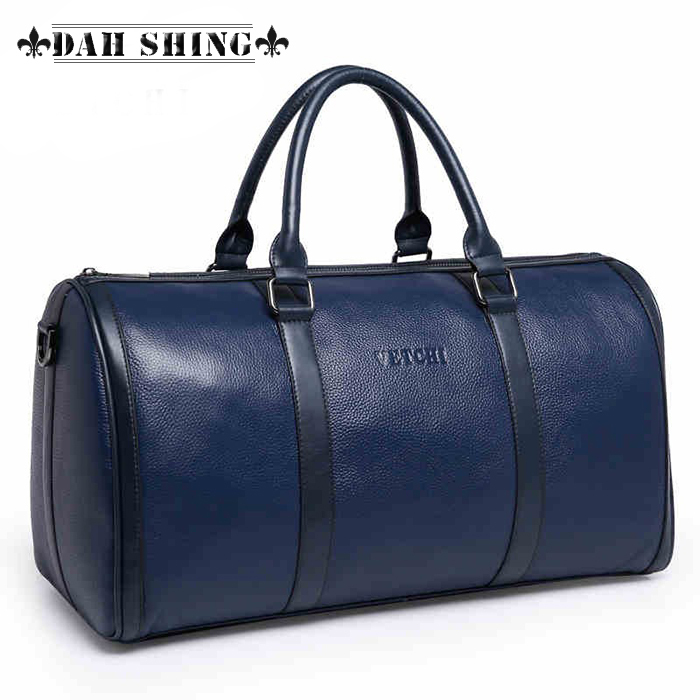 4 colors Blue/brown crocodile skin large 100% genuine leather cowhide weekend bag men's travel bags luggage duffle 47*25cm - Dah Shing Fashion Co., Ltd. store